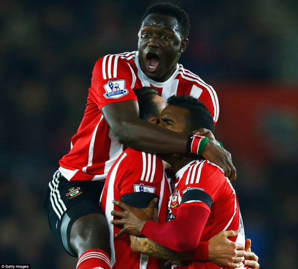 Wanyama celebrating a goal during the 2015/2016 campaign