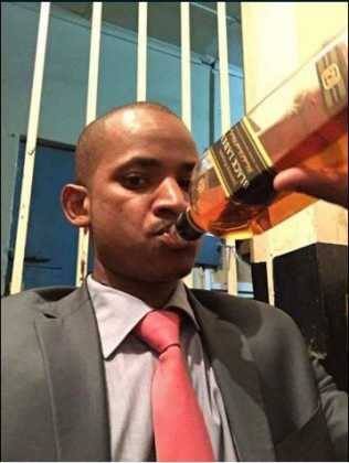 Image result for babu owino alcohol  drinking