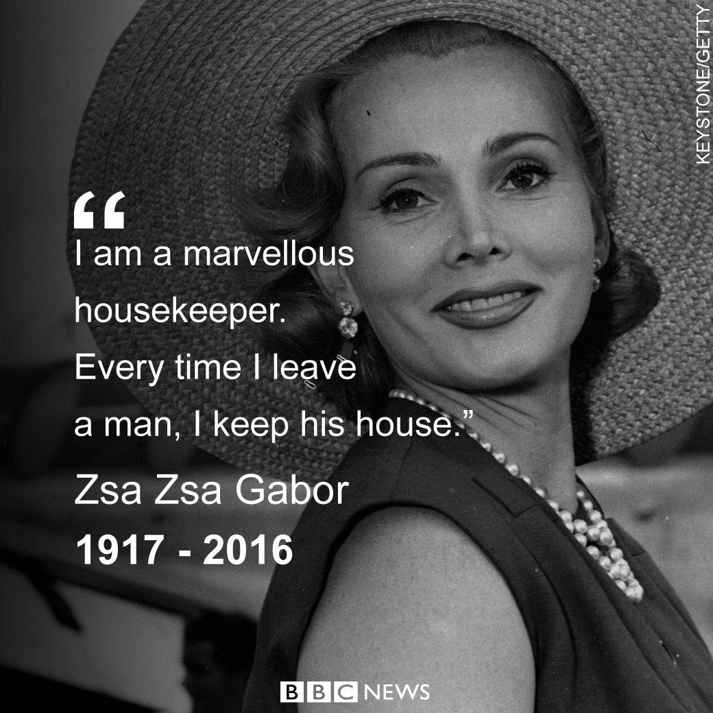Zsa Zsa Gabor Quotes Hollywood Star Zsa Zsa Dies At 99 Years After Remarrying More Than