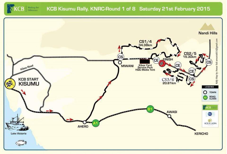 kcb rally road map Youth Village Kenya