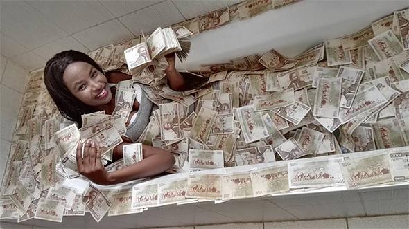 Image result for kenyan cash money lady